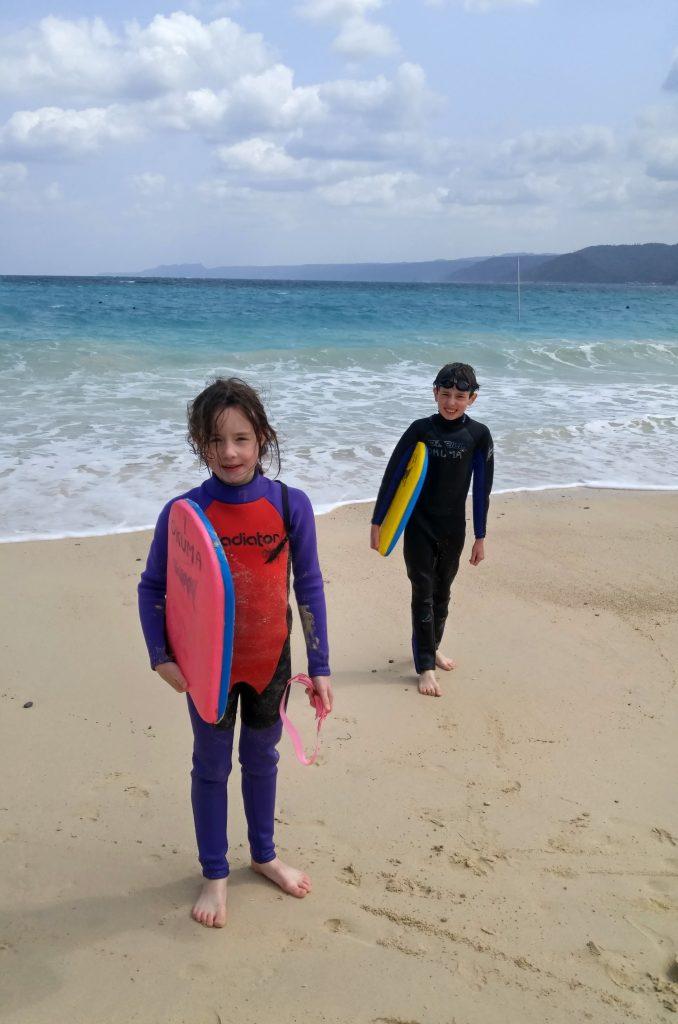 Boogie Boarding at Okuma Beach Okinawa