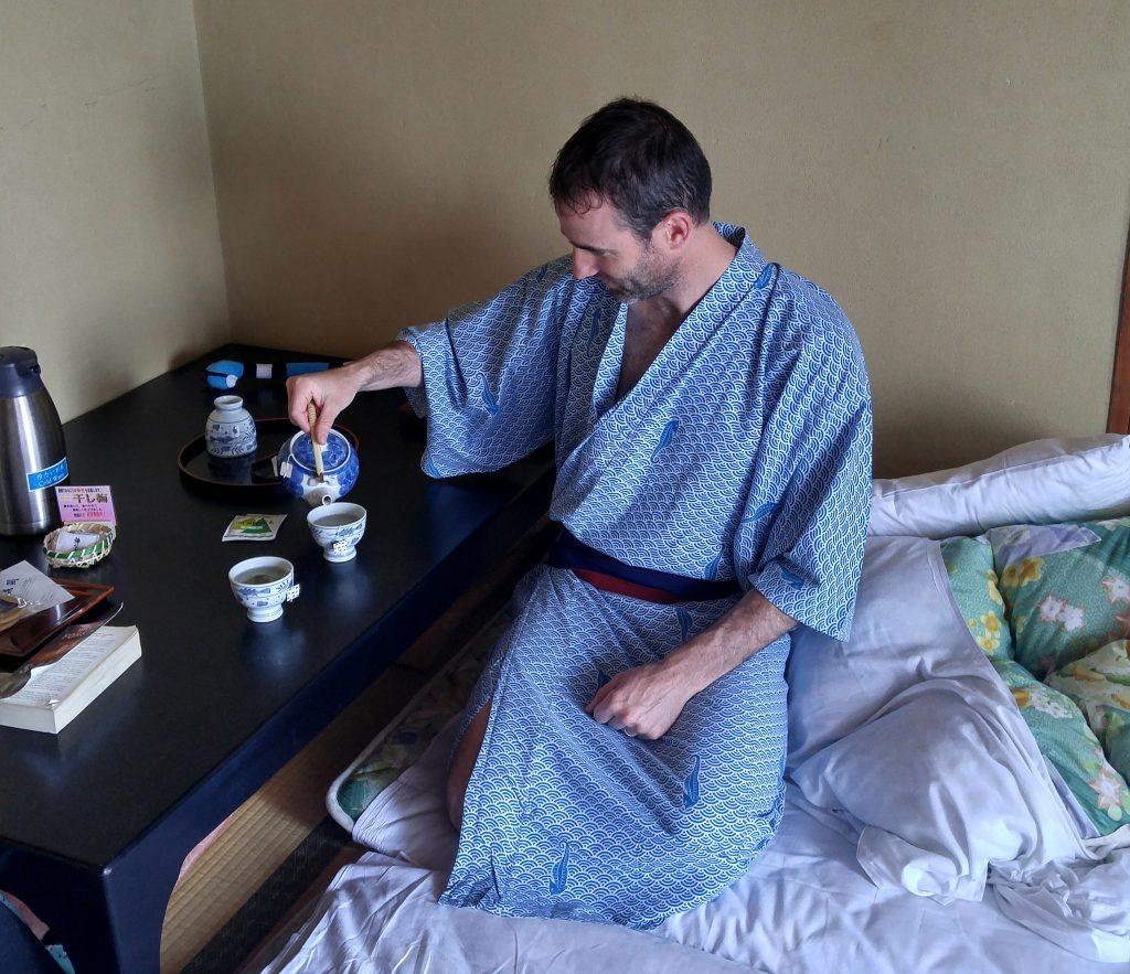 Green tea in ryokan