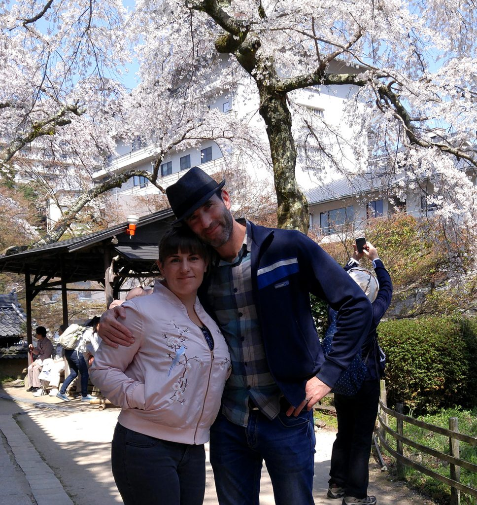 Cherry blossoms in Arima onsen